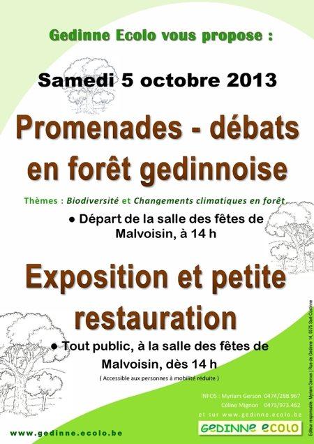 """""""Biodiversité"""" et """"Changements climatiques en forêt""""."""